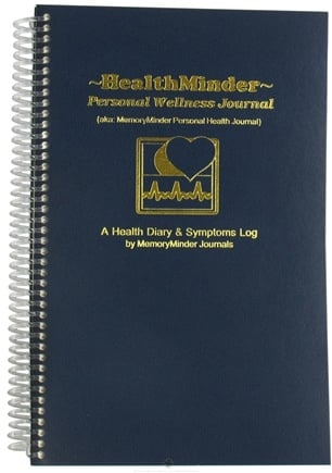 DROPPED: MemoryMinder Journals - HealthMinder Personal Wellness Journal - 1 Book aka: HealthMinder Personal Health Journal CLEARANCE PRICED