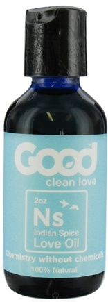 DROPPED: Good Clean Love - All Natural Love Oil Indian Spice - 2 oz. CLEARANCE PRICED