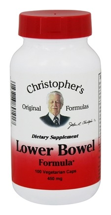 Dr. Christopher's Original Formulas - Lower Bowel Formula - 100 Vegetarian Capsules