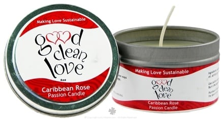 DROPPED: Good Clean Love - Passion Candle Caribbean Rose - 4 oz. CLEARANCE PRICED