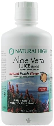 DROPPED: Natural High - Aloe Vera Juice Dietary Peach Flavor - 32 oz.