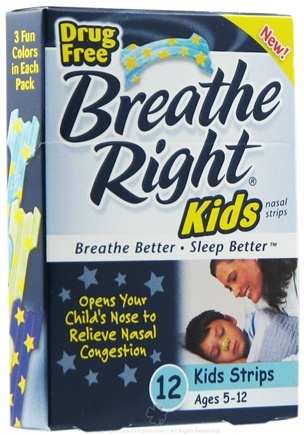 DROPPED: Breathe Right - Kids Nasal Strips - 12 Strip(s)