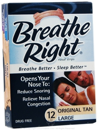DROPPED: Breathe Right - Nasal Strips Original Large Tan - 12 Strip(s) CLEARANCE PRICED