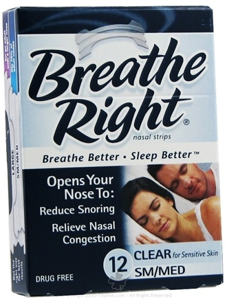 DROPPED: Breathe Right - Nasal Strips Small / Medium Clear - 12 Strip(s) SPECIALLY PRICED