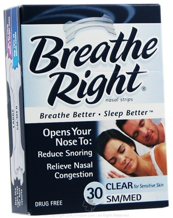 DROPPED: Breathe Right - Nasal Strips Small/Medium Clear - 30 Strip(s)