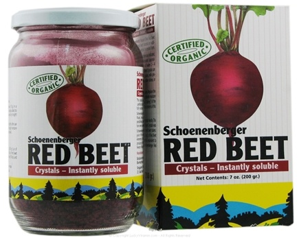 DROPPED: Bio-Nutritional Products - Schoenenberger Red Beet Crystals Instantly Soluble - 7 oz.