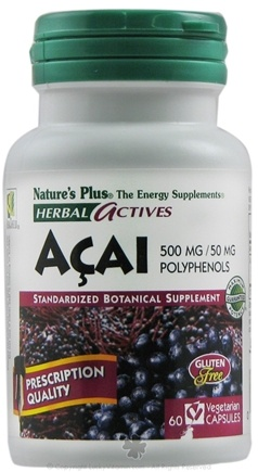 DROPPED: Nature's Plus - Herbal Actives Acai 500 mg. - 60 Vegetarian Capsules CLEARANCE PRICED