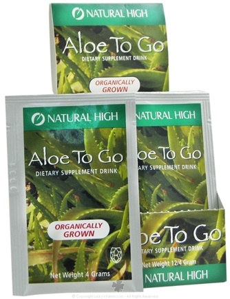 DROPPED: Natural High - Aloe To Go Drink Mix Packet - 4 Grams CLEARANCE PRICED
