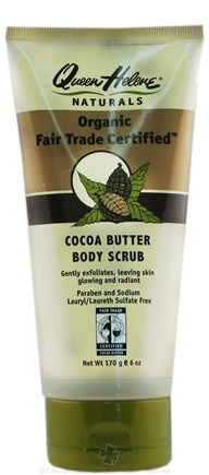 DROPPED: Queen Helene - Organic Fair Trade Certified Body Scrub Cocoa Butter - 6 oz. CLEARANCE PRICED