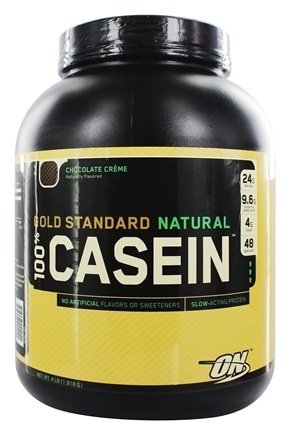 Optimum Nutrition - 100% Casein Gold Standard Natural Protein Chocolate Creme - 4 lbs.