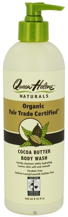 DROPPED: Queen Helene - Organic Fair Trade Certified Cocoa Butter Body Wash - 16 oz.