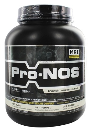 MRI: Medical Research Institute - Pro-Nos Multi-Fractionated Whey Isolate Complex French Vanilla Creme - 3 lbs.