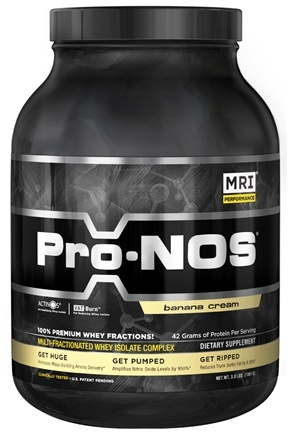 DROPPED: MRI: Medical Research Institute - Pro-Nos Multi-Fractionated Whey Isolate Complex Banana Cream - 3 lbs. CLEARANCED PRICED