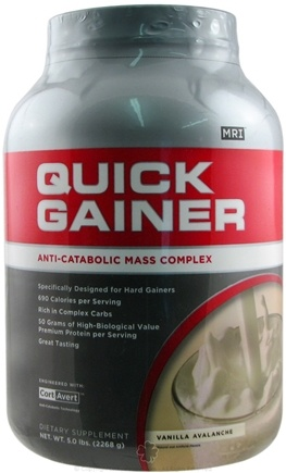 DROPPED: MRI: Medical Research Institute - Quick Gainer Anti-Catabolic Mass Complex CLEARANCE PRICED Vanilla Avalanche - 5 lbs.