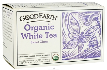 DROPPED: Good Earth Teas - Organic White Tea Sweet Citrus - 18 Tea Bags