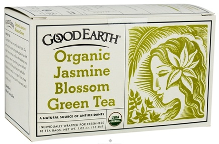 DROPPED: Good Earth Teas - Organic Jasmine Blossom Green Tea - 18 Tea Bags