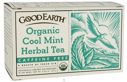 DROPPED: Good Earth Teas - Organic Cool Mint Herbal Tea Caffeine Free - 18 Tea Bags