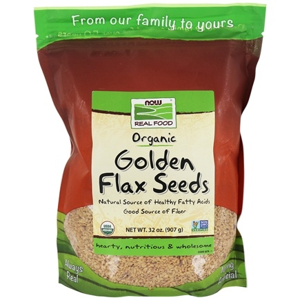 NOW Foods - Certified Organic Golden Flax Seeds - 2 lbs.