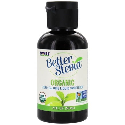 NOW Foods - Better Stevia Liquid Sweetener Organic - 2 oz.