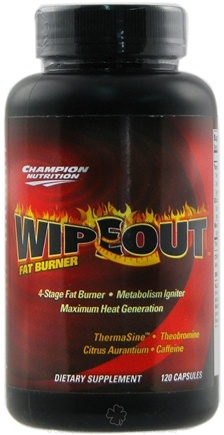 DROPPED: Champion Performance - Wipeout Fat Burner - 120 Capsules CLEARANCE PRICED