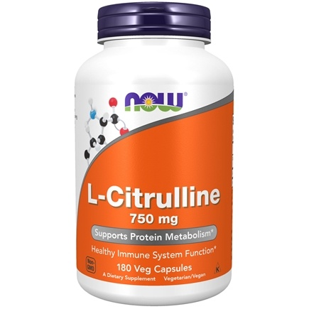DROPPED: NOW Foods - L-Citrulline 750 mg. - 180 Capsules