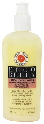 DROPPED: Ecco Bella - Herbal Body Lotion Grapefruit - 8 oz.