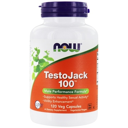 NOW Foods - TestoJack 100 with Tongkat Ali - 120 Vegetarian Capsules