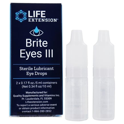 Life Extension - Brite Eyes III Sterile Lubricant Eye Drops - 2 Vial(s)