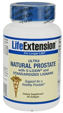 DROPPED: Life Extension - Ultra Natural Prostate with 5-Loxin & Standardized Lignans - 60 Softgels