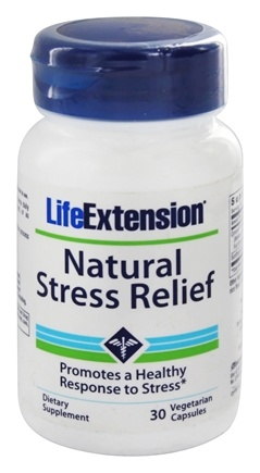 DROPPED: Life Extension - Natural Stress Relief - 30 Vegetarian Capsules