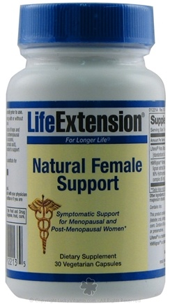 DROPPED: Life Extension - Natural Female Support - 30 Vegetarian Capsules