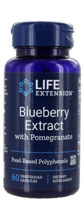 Life Extension - Blueberry Extract with Pomegranate - 60 Vegetarian Capsules