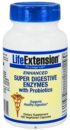 DROPPED: Life Extension - Enhanced Super Digestive Enzymes with Probiotics - 100 Vegetarian Capsules CLEARANCE PRICED