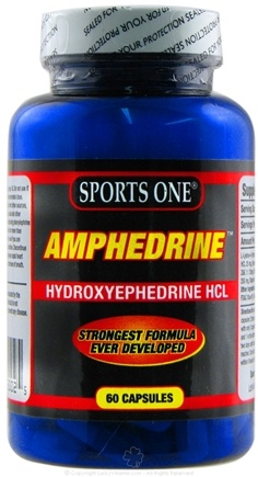 DROPPED: Sports One - Amphedrine Hydroxyephedrine HCL - 60 Capsules CLEARANCE PRICED