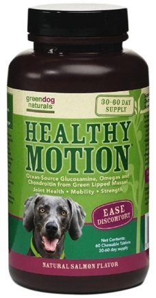 DROPPED: Green Dog Naturals - Healthy Motion 30-60 Day Supply Natural Salmon Flavor - 60 Chewable Tablets CLEARANCE PRICED
