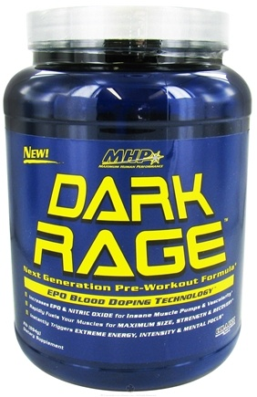 DROPPED: MHP - Dark Rage Next Generation Pre-Workout Formula Cola Fizz - 2 lbs. CLEARANCE PRICED
