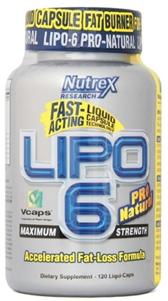 DROPPED: Nutrex - Lipo 6 Pro Natural - 120 Capsules
