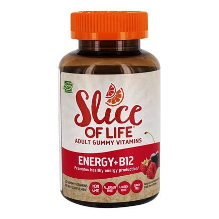 Hero Nutritionals Products - Slice of Life Energy + B12 Adult Gummy Vitamins - 60 Gummies