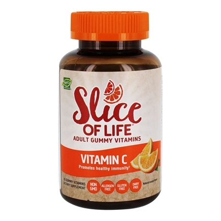Hero Nutritional Products - Slice of Life Vitamin C+Pomegranate Adult Gummy Vitamins - 60 Gummies