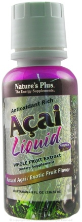 DROPPED: Nature's Plus - Antioxidant Rich Acai Liquid Whole Fruit Extract Exotic Fruit Flavor - 8 oz. CLEARANCE PRICED
