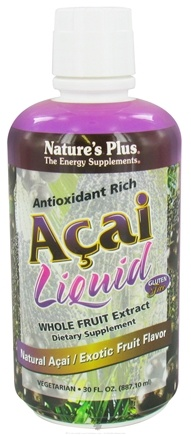 DROPPED: Nature's Plus - Antioxidant Rich Acai Liquid Whole Fruit Extract Exotic Fruit Flavor - 30 oz. CLEARANCE PRICED