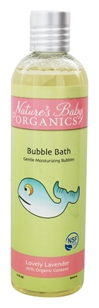 Nature's Baby Organics - Bubble Bath NSF Cerftified Lovely Lavender - 12 oz.
