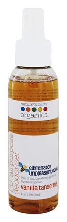 Nature's Baby Organics - PU All Purpose Deodorizer Vanilla Tangerine - 4 oz.
