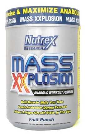 DROPPED: Nutrex - Mass XXplosion Anabolic Workout Fruit Punch - 15 Packet(s)