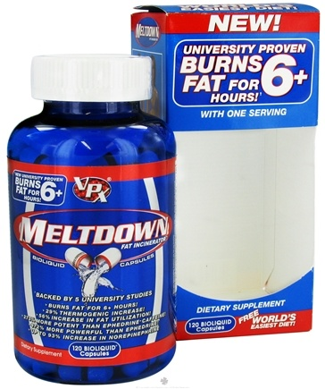 DROPPED: VPX - Meltdown Fat Incinerator - 120 Liquid Capsules CLEARANCE PRICED