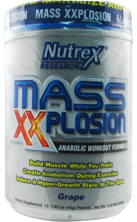 DROPPED: Nutrex - Mass XXplosion Anabolic Workout Grape - 15 Packet(s)