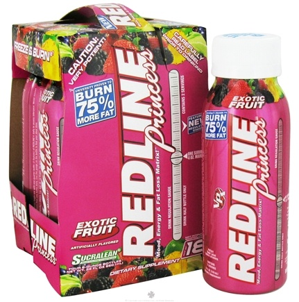 DROPPED: VPX - Redline Princess RTD Mood Energy & Fat Loss Matrix 4 x 8oz. Exotic Fruit - 4 Pack CLEARANCE PRICED