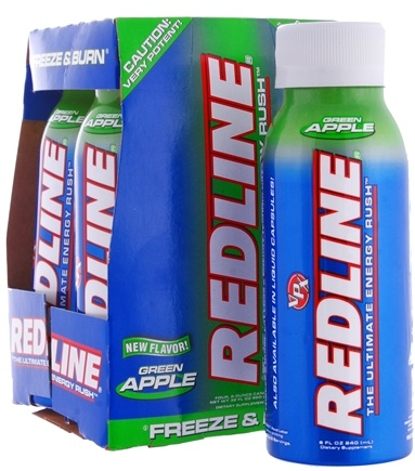 DROPPED: VPX - Redline Xtreme RTD Energy Drink 4 x 8oz. (4 pack) Green Apple