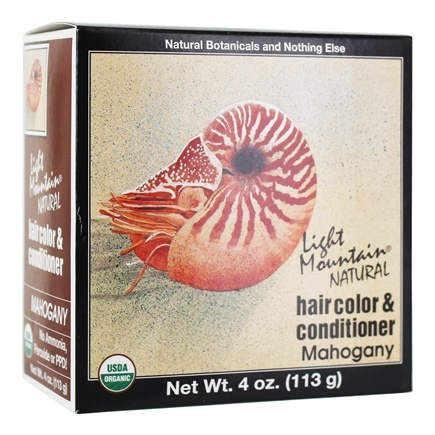 Light Mountain Natural - Hair Color & Conditioner Kit Mahogany - 4 oz.