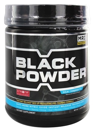 MRI: Medical Research Institute - Black Powder Instant Release Pre Training Formula Blue Raspberry - 1.76 lbs.